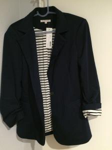 41Hawthorn- Benson 3/4 Ruched Sleeve Blazer