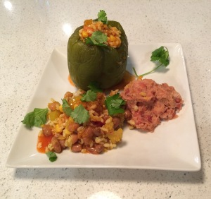 Happy Herbivore Stuffed Bell Peppers
