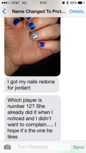 Seahawks manicure