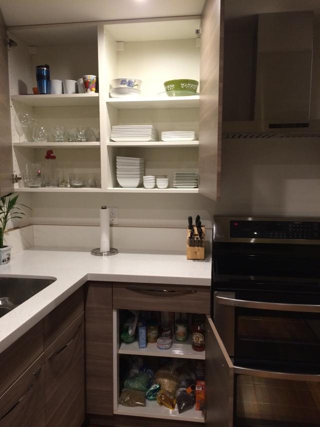 inside cupboards