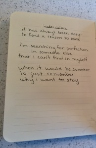poem- indecision