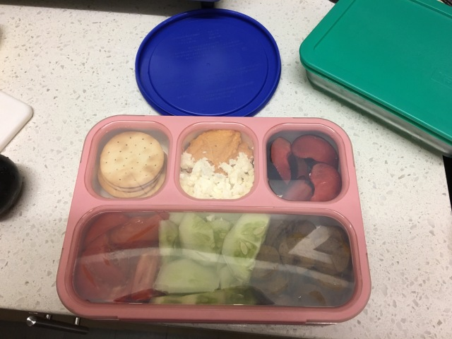 Closed bento box