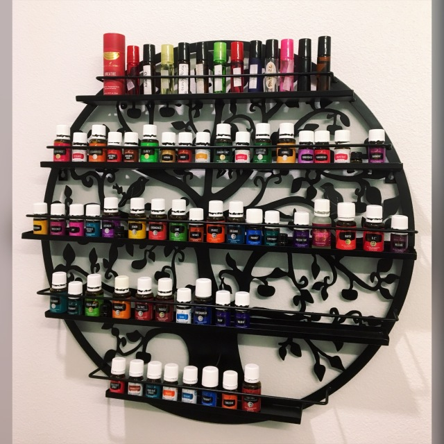 essential oil rack
